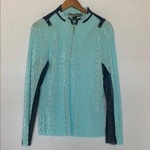 Jamie Sadock Long Sleeve Textured Golf Shirt
